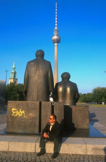 Alemania, Berlín, Monumento a Marx y Engels