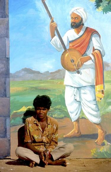 India, Mysore, Fiesta de Dussehra, Karnataka, un descanso, retrato