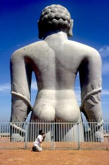 India, Karnataka, Shravanabelagola, Templo de Jain, retrato