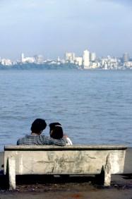 India, Maharashtra, Maharashtra, Bombay, Bahia Backbay, pareja