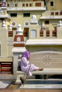 India, Uttar Pradesh, Delhi, templo de Lakshmi Marayan