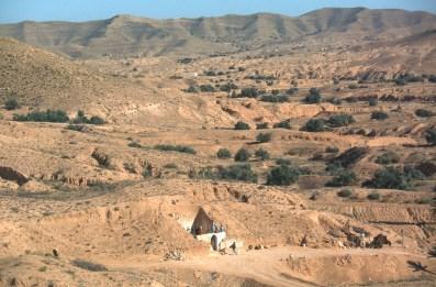 Túnez, Gran Sur, Matmata, trogloditas