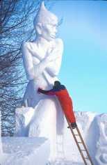 Canadá, Quebec, Carnaval, esculturas de Hielo