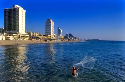 Israel, Tel Aviv, pescador