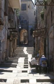 Israel, Jerusalén, calle del barrio Arabe