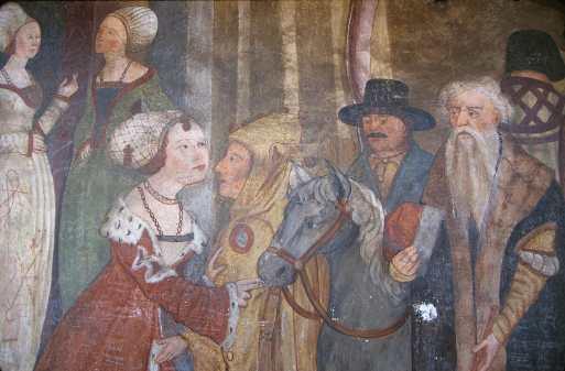 Innsbruck, Tejadillo de oro, Frescos Siglo Xvm Pintura Mural