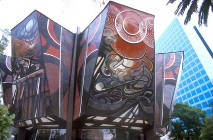 México, DF, Poliforum Siqueiros, murales obra de David Alfaro Siqueiros