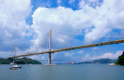 Hong Kong, puente Tsing Ma, puente Tiwg Kou