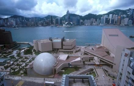 Hong Kong,Kowloon, hotel Peninsula, vista isla Hong Kong