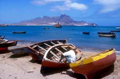Cabo Verde, Isla Sao Vicente. Varca de pescadores