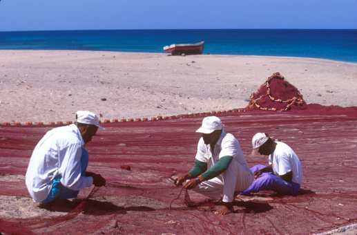 Cabo Verde, Isla Sao Vicente, pescadores