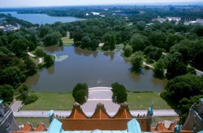 Alemania, Baja Sajonia, Hannover, jardines del Ayuntamiento, Lago Maschsee