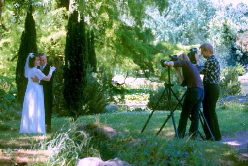 Alemania, Baja Sajonia, Hannover, jardines del Ayuntamiento, fotos de boda