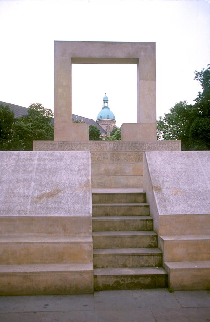 Alemania, Baja Sajonia, Hannover, monumento a los Judios