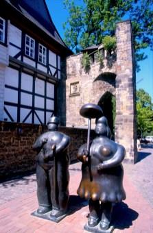 Alemania, Baja Sajonia, Goslar, obra de Botero