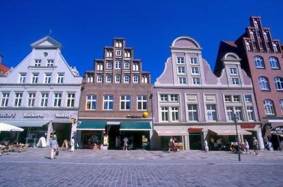 Alemania, Baja Sajonia, Lüneburg, Plaza Am Sande
