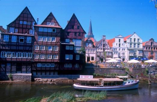 Alemania, Baja Sajonia, Lüneburg, puerto