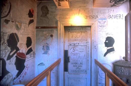 Alemania, Baja Sajonia, Göttingen, museo cárcel de estudiante en la Universidad, mural