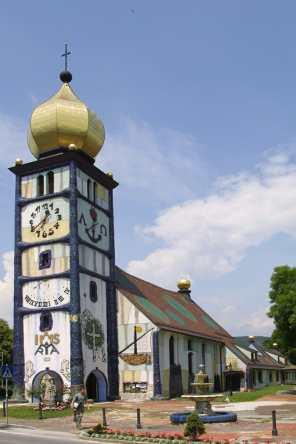 Austria, Estiria, Barnbach, arquitecto Hundertwasser