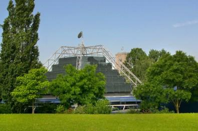 Alemania, Baden-Wurtemberg, Stuttgart, jardines de palacio, Planetario