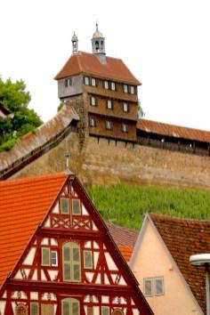 Alemania, Baden-Wurtemberg, Esslingen Am Neckar, murallas y atalaya