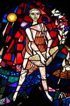 Alemania, Baden-Wurtemberg, Esslingen Am Neckar, Iglesia San Dionisio, vitral