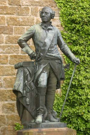 Alemania, Baden-Wurtemberg, Hechingen, castillo Hohenzollern, Federico El Grande, Rey de Prusia, esculturas