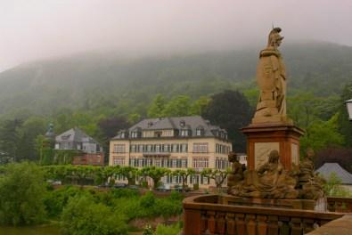 Alemania, Baden-Wurtemberg, Heidelberg, río Neckar, Puente Viejo
