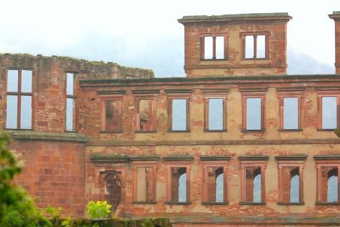 Alemania, Baden-Wurtemberg, Heidelberg, Palacio de Heidelberg, ventanas