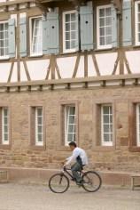 Alemania, Baden-Wurtemberg, Heidelberg, Universidad de Heidelberg, sala de fiestas, recinto del monasterio, bicicleta