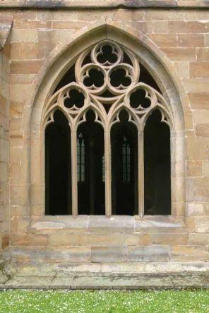 Alemania, Baden-Wurtemberg, Maulbronn, Monasterio, ventana gótica
