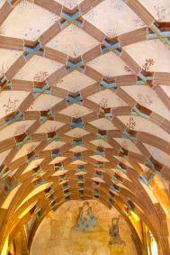 Alemania, Baden-Wurtemberg, Maulbronn, Monasterio, techo del locutorio