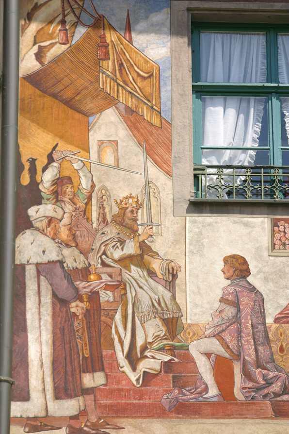 Alemania, Lago de Constanza, Constanza, Calle Paradiesstrasse, mural