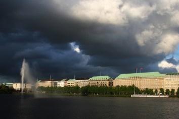 Alemania, Hamburgo, Lago Binnenalster