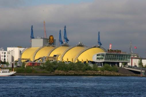 Alemania, Hamburgo, puerto, río Elba, sala de espectáculo