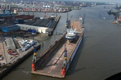 Alemania, Hamburgo, puerto, dique seco