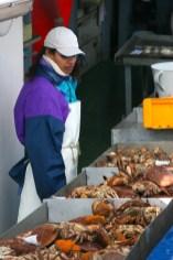 Alemania, Hamburgo, Festival del puerto de Hamburgo, venta de mariscos