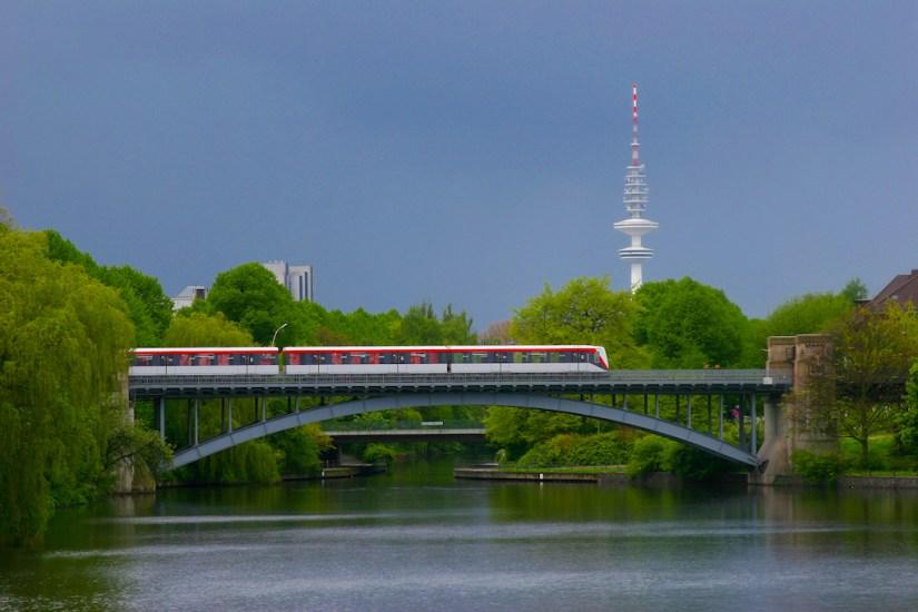 Alemania, Hamburgo, canal Mundsburg