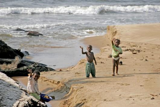 Camerún, playa de Kribi