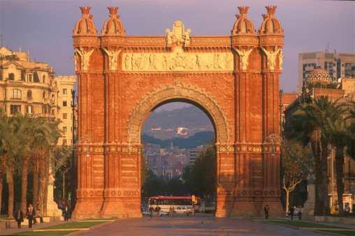 Barcelona, Arc de Triunf, puerta