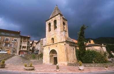 Catalunya, Gironès, El Ripollès, Llanars, Valle de Camprodon, Iglesia Sant Esteban