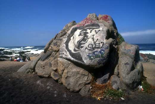 Chile, Isla Negra, Pablo Neruda, mural, graffiti