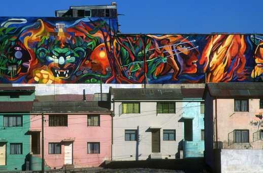 Chile, Valparaiso, Pablo Neruda, Pintura mural