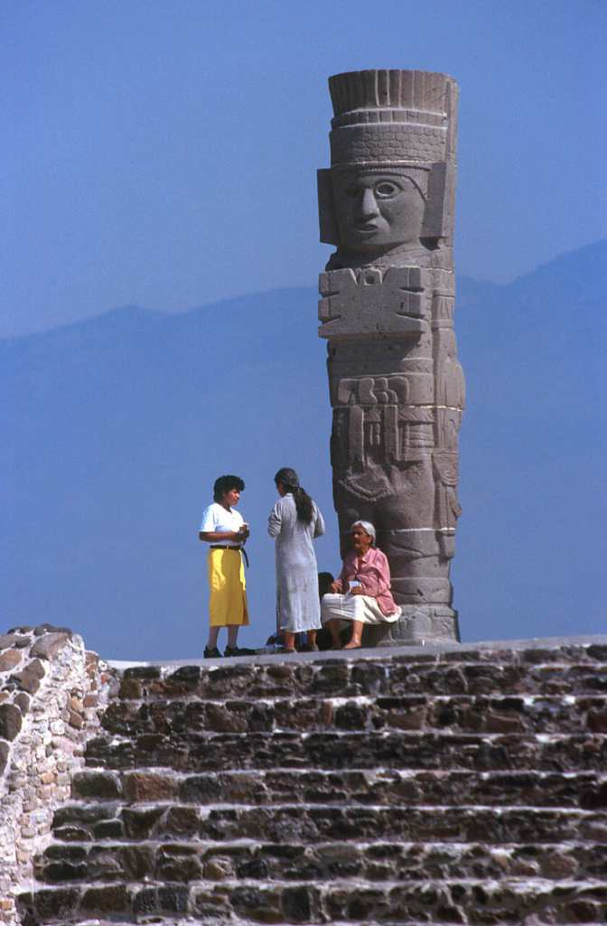 México, Ciudad Tolteca, Atlante, escultura