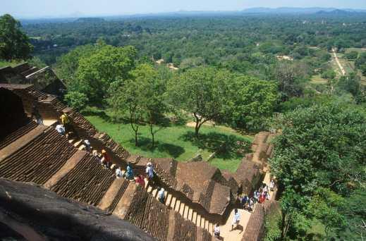 Sri Lanka, Sigiriya, templo de la roca, arquitectura