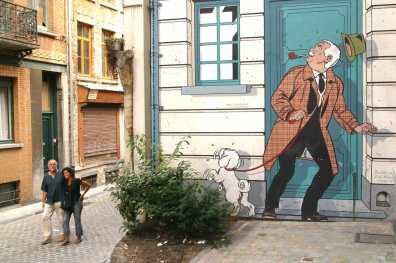 Bruselas, Ruta del Comic, Pintura Mural