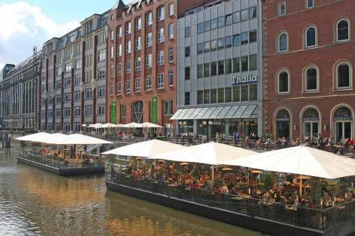 Alemania, Hamburgo Canal Alster