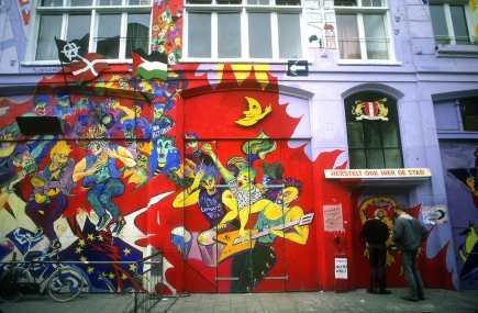 Holanda, Amsterdam, pintura mural