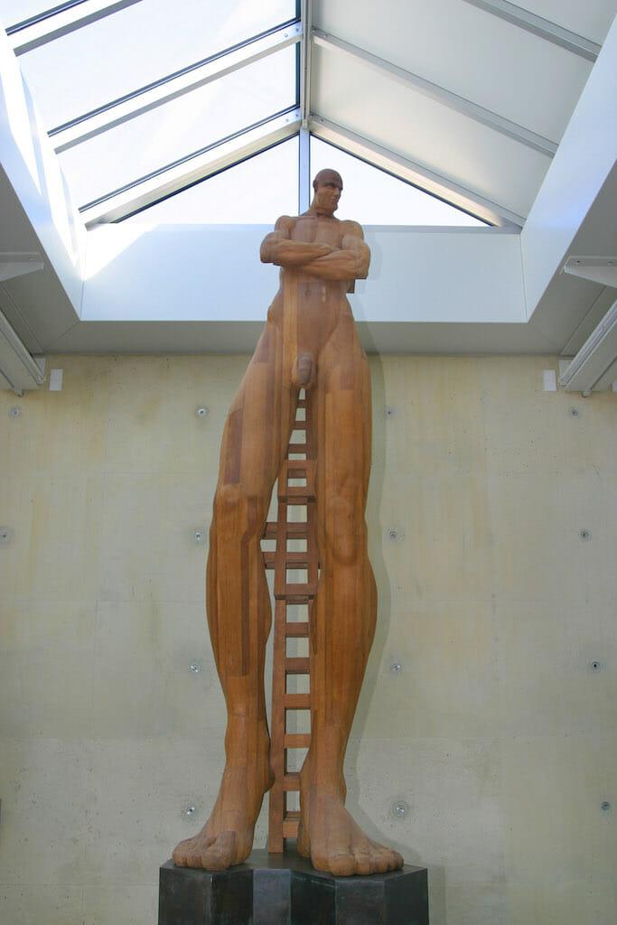 Holanda, Zuid-Holland, Scheveningen, Museo de las Esculturas en la Playa, Obra de Gerhard Lentink