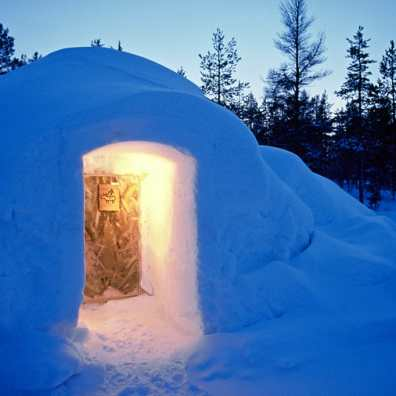 Laponia, Saariselkä, Hotel Kakslauttanen,Iglú, Saariselka